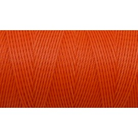 5m Fil polyester ciré 0,8mm de couleur orange fluo