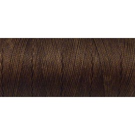 5m Fil polyester ciré 0,8mm de couleur marron noisette