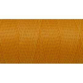 R-5m Fil polyester ciré 0,8mm de couleur orange paille