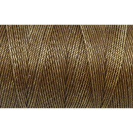 5m Fil polyester ciré 0,8mm de couleur marron bronze