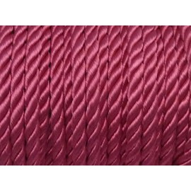 50cm Cordon nylon mouliné 5mm couleur rose