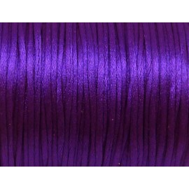10m de fil, Cordon 1mm Queue de rat violet brillant