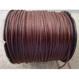 R-5m Fil polyester ciré plat de couleur marron 0,6mm