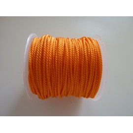 Fil polyester de couleur orange vif brillant 1mm