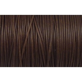 5m Cordon polyester enduit souple 1,5mm imitation cuir marron noisette
