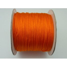 Fil nylon de couleur orange fluo brillant 1,5 mm