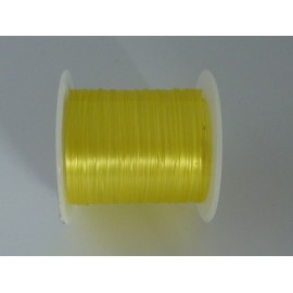 2m de fil nylon élastique jaune transparent 0,5mm