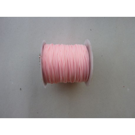 5m cordon polyester rose pâle 0,8mm