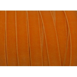 1m Ruban velours élastique plat largeur 10mm orange