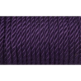50cm Cordon nylon mouliné 5mm violet