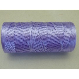5 m fil, cordon nylon parme, mauve brillant 0,8mm