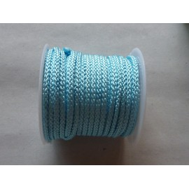 R-1m Cordon polyester 2mm de couleur bleu pâle, layette brillant