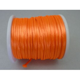 Cordon Ficelle chinoise 2mm orange fluo brillant