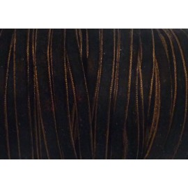 Galon velours marron foncé 6mm