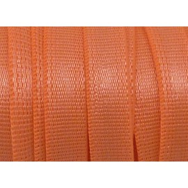 Ruban élastique 8mm orange acidulé brillant satiné