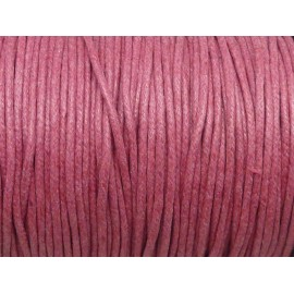 5m Cordon coton ciré 1,8mm rose framboise
