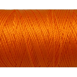 5 m fil, cordon nylon orange vif fluo brillant 0,8mm
