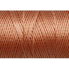 5 m fil, cordon nylon orange pêche brillant 0,8mm