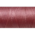 5m de fil, cordon nylon vieux rose brillant 0,8mm