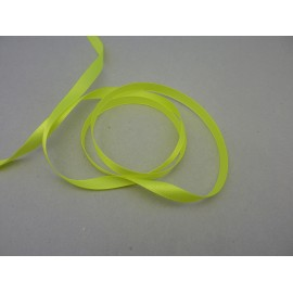 5m Ruban Galon plat jaune fluo 9,5mm de large brillant satiné