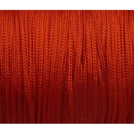 cordon nylon 1mm tressé rouge
