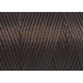 5 m fil, cordon nylon marron brun brillant 0,8mm