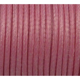 3,9m Cordon polyester enduit souple imitation cuir rose brillant 2mm
