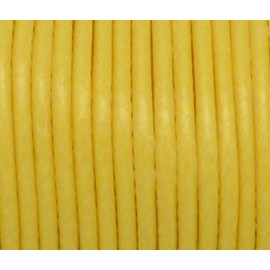 R-3,90m Cordon polyester enduit souple jaune brillant 2mm