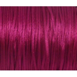 R-10m Cordon 1mm Queue de rat rose fuchsia brillant satiné