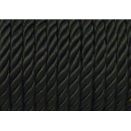 1M Cordon nylon mouliné 5mm noir