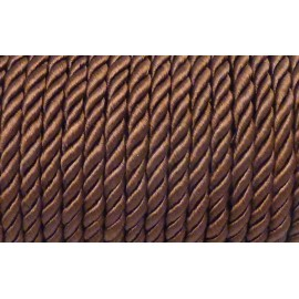 1M Cordon nylon mouliné 5mm marron châtaigne