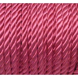 1m Cordon nylon mouliné 5mm couleur rose