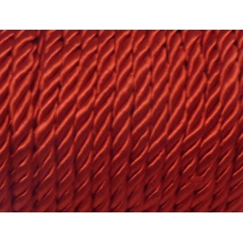 1m Cordon nylon mouliné 5mm couleur rouge