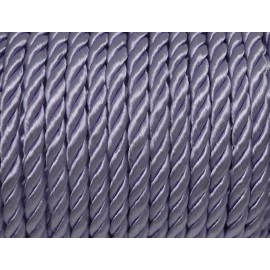 1m Cordon nylon mouliné 5mm couleur parme