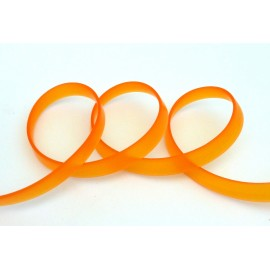 50 cm Cordon PVC, caoutchouc plat largeur 1cm orange transparent