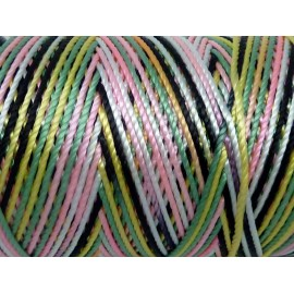 5m fil cordon nylon 0,8mm multicolore blanc, noir, rose, vert, jaune brillant