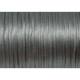 R-10m de Cordon 1mm Queue de rat gris brillant ficelle chinoise