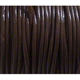 6m Cordon polyester enduit souple 1,5mm imitation cuir marron