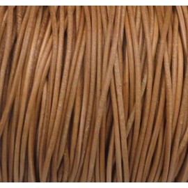 Cordon cuir 1,5mm marron naturel