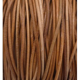 R-5m Cordon cuir 2,4mm de couleur marron naturel