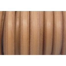 20cm Cuir regaliz 10mm x 6,4mm de couleur beige naturel, marron clair