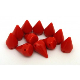 R-5 perles clous connecteur 15x10mm rouge double trous - Punk Rock
