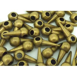 25 clous, pointes, breloque 14mm en métal bronze - Punk Rock