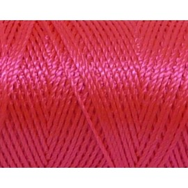 5m fil cordon nylon 0,8mm rose fluo brillant