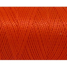 5m fil cordon nylon 0,8mm orange fluo brillant