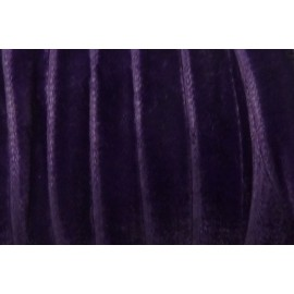 Ruban plat velours 7mm de couleur violet