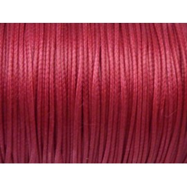 5m de Cordon polyester enduit 1mm souple rose fuchsia brillant