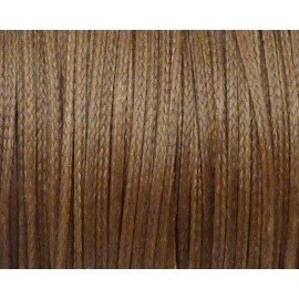 1m Fil polyester ciré 1,5mm plat de couleur marron noisette