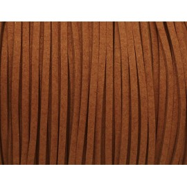 2m Cordon suédine 2,5mm marron orangé