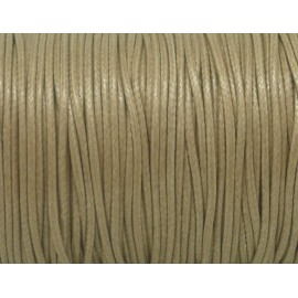 5m Cordon polyester enduit 1,5mm souple imitation cuir beige sable brillant